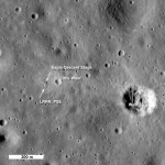 LROC: a segunda olhada no local de pouso da Apollo 11 na Lua. Crédito: NASA/GSFC/Arizona State University.