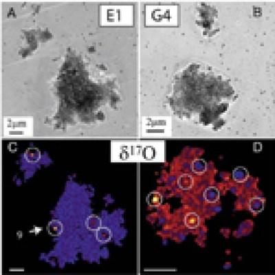 Partículas de poeira interplanetária com grãos componentes pré-solares