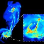 Um choque de galáxias intensifica a formação estelar?