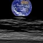 LRO retrata a Terra 'nascendo' no horizonte lunar