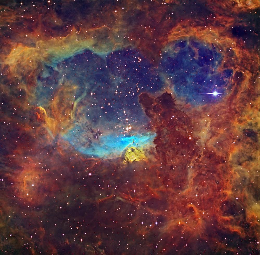 Estrelas mais massivas da Via Láctea esculpem a nebulosa NGC 6357