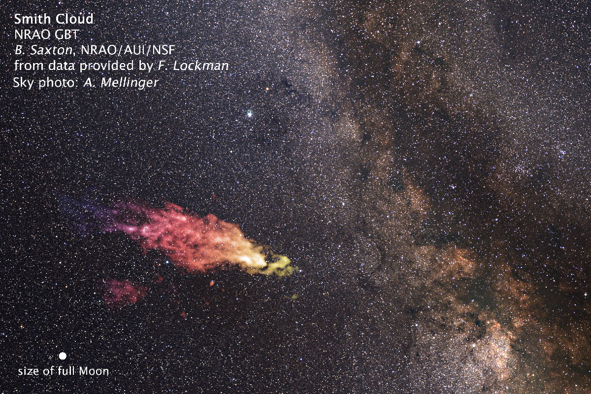 """Hubble observa a gigantesca nuvem """"bumerangue"""" de Smith que está voltando para colidir com a Via Láctea"""