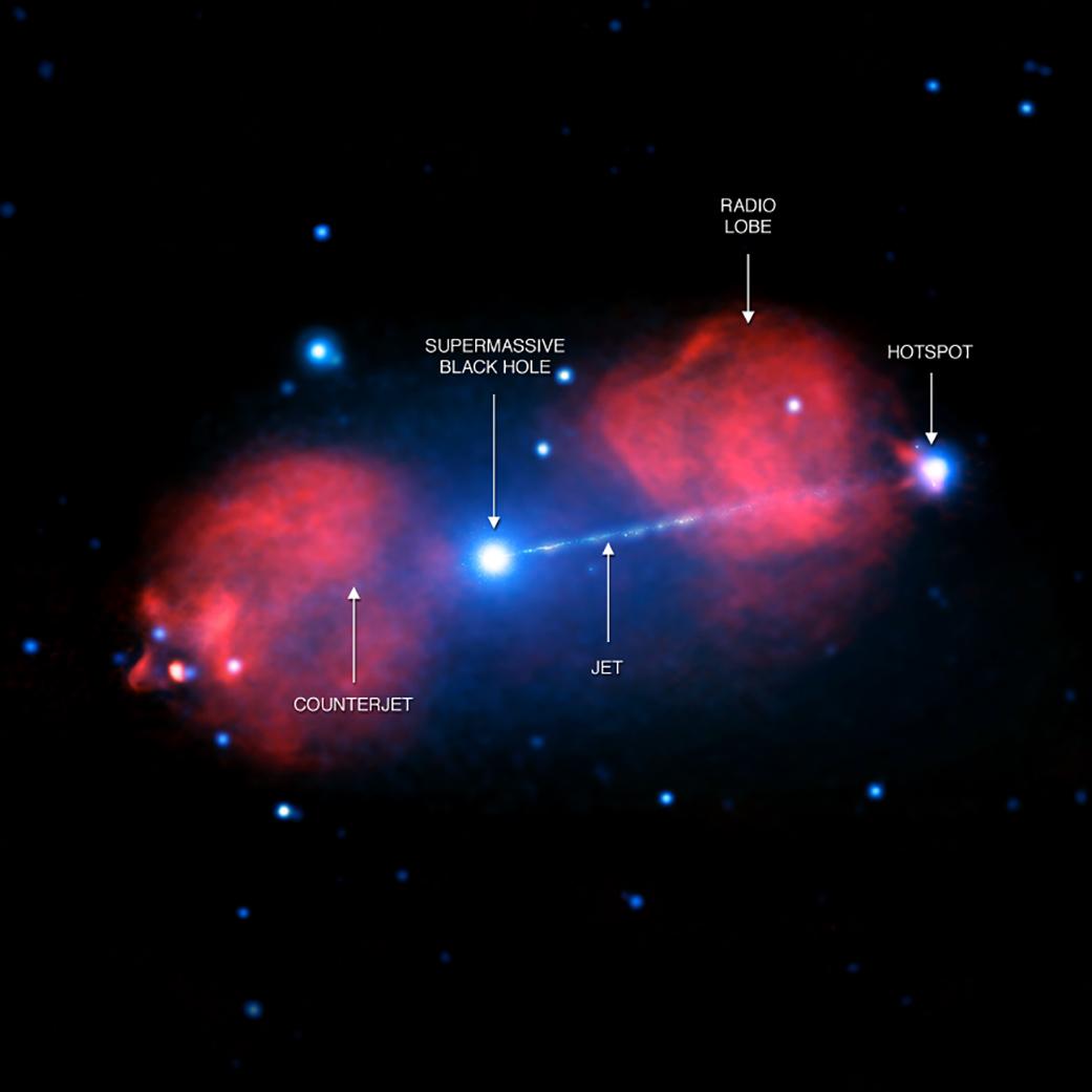 Pictor A: Astrônomos estudam a explosão do buraco negro em rádio galáxia muito, muito distante