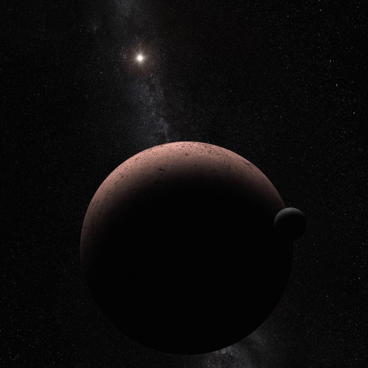 MK 2: Hubble revela uma lua orbitando o planeta anão Makemake