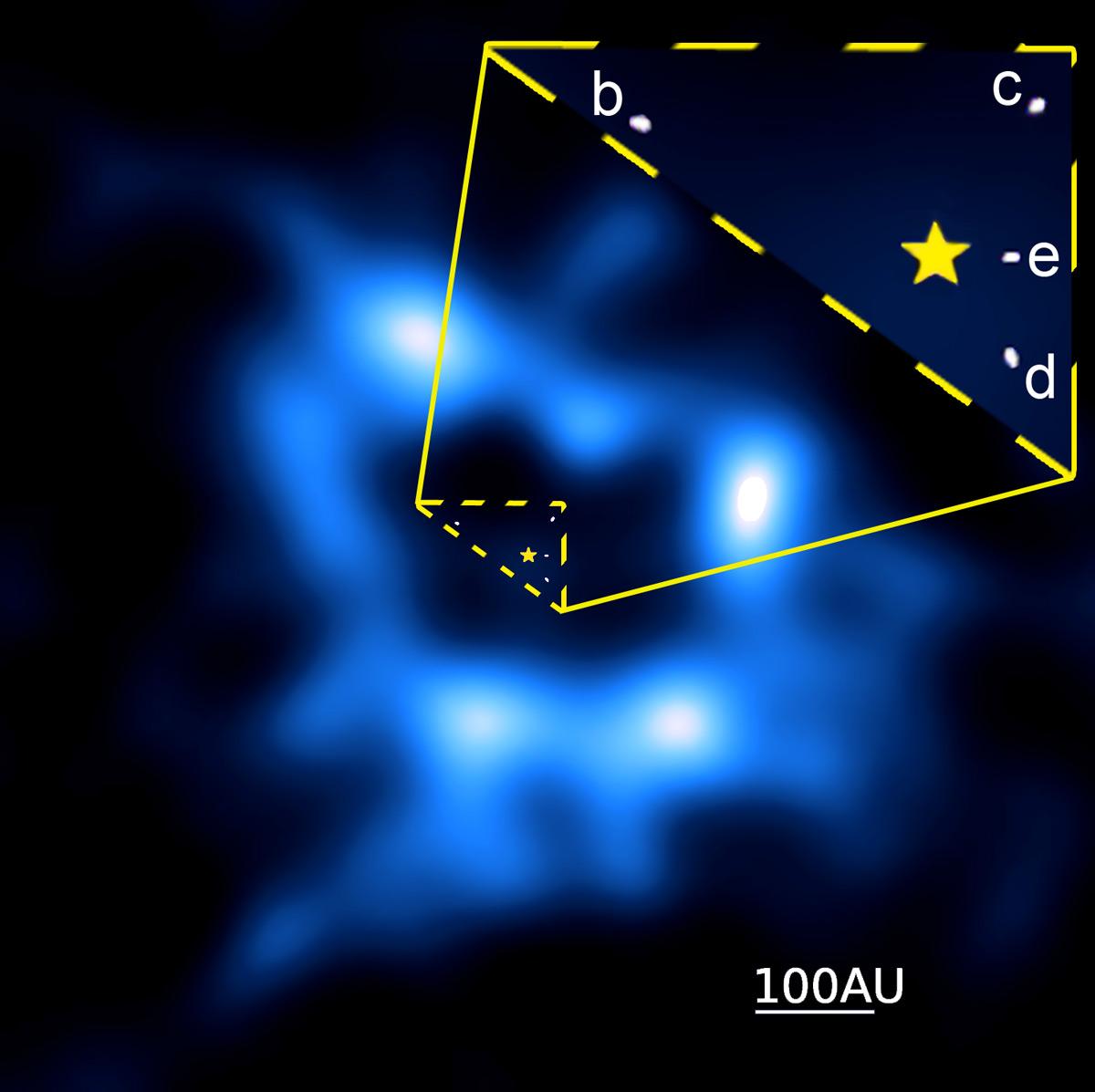 HR 8799: Cinturão de Cometas em volta de sistema multiplanetário dá indícios da presença de exoplanetas escondidos ou errantes
