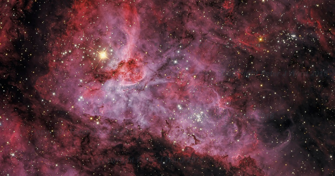 NGC 3372: a Grande Nebulosa Carina por Peter Ward