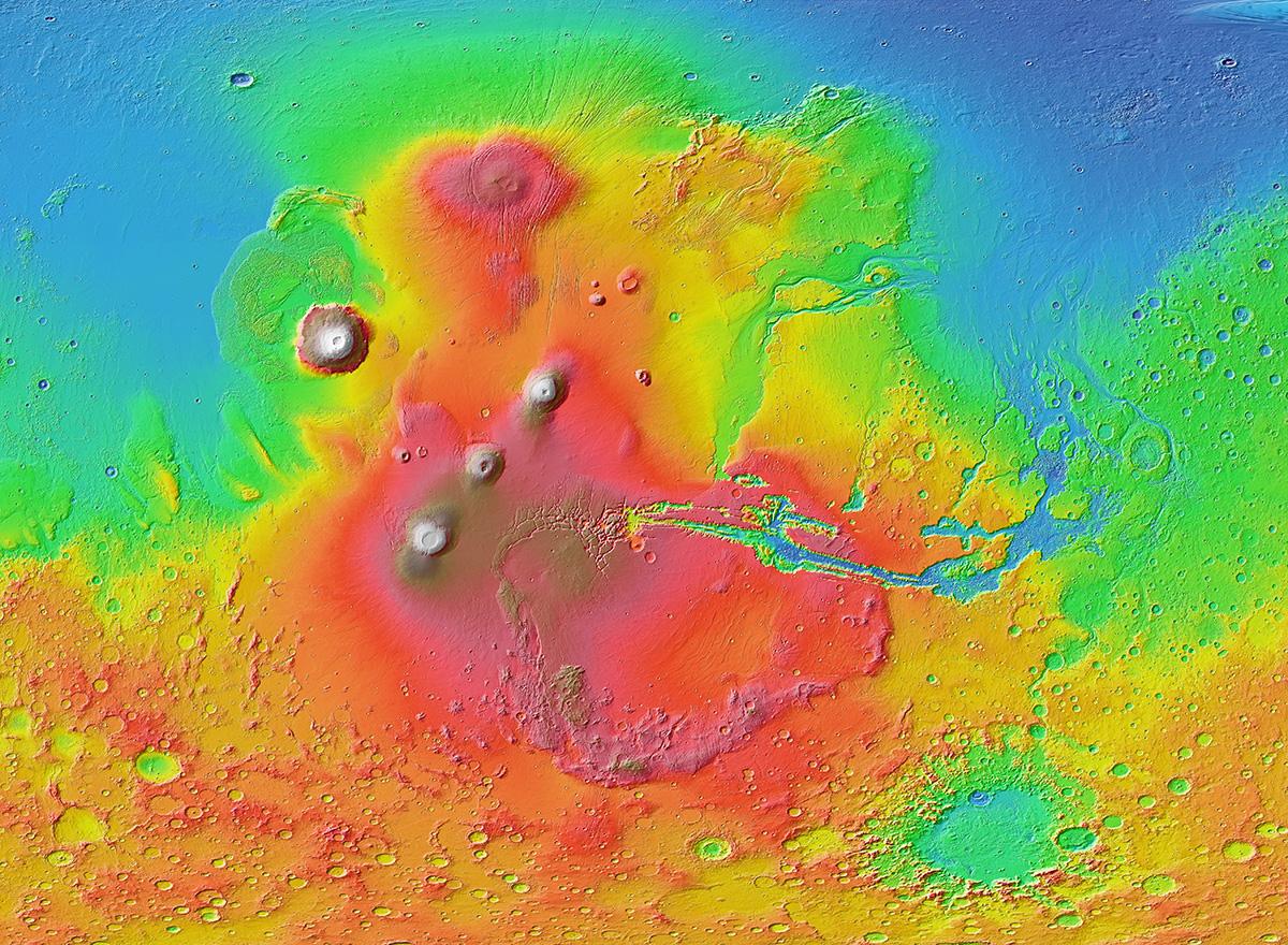 Evidências de antigos tsunamis em Marte revelam seu passado molhado