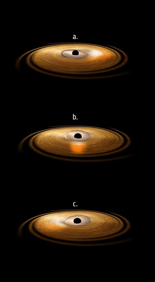 H 1743-322: Buraco Negro faz a matéria oscilar ao seu redor