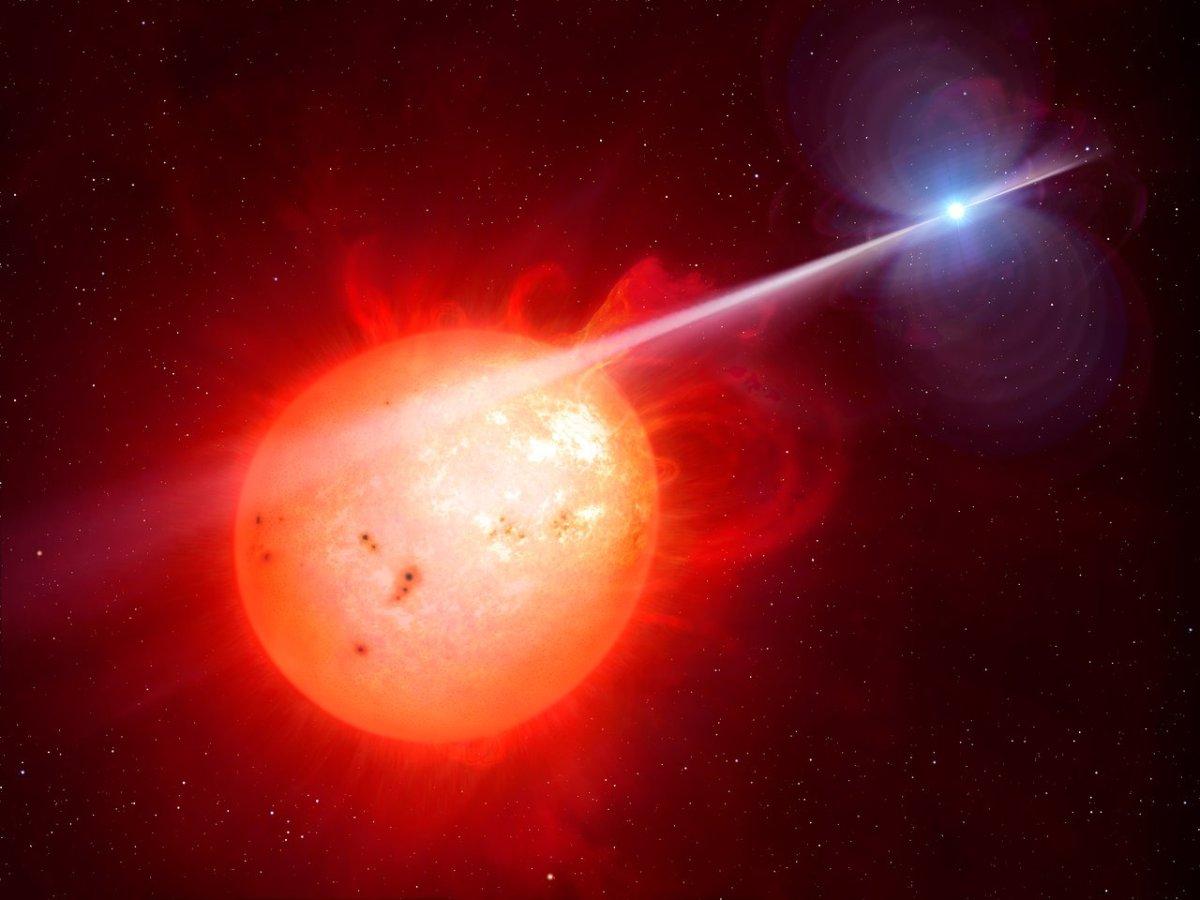 AR Scorpii: Anã branca castiga anã vermelha com feixes de elétrons em velocidades relativísticas