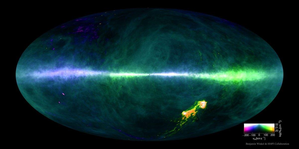 Como está distribuído o Hidrogênio nos céus? Novo mapa ajuda a esclarecer.
