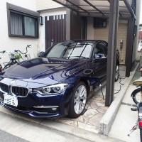 BMW330eの充電設備工事