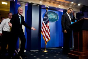 Bill Clinton and Barack Obama