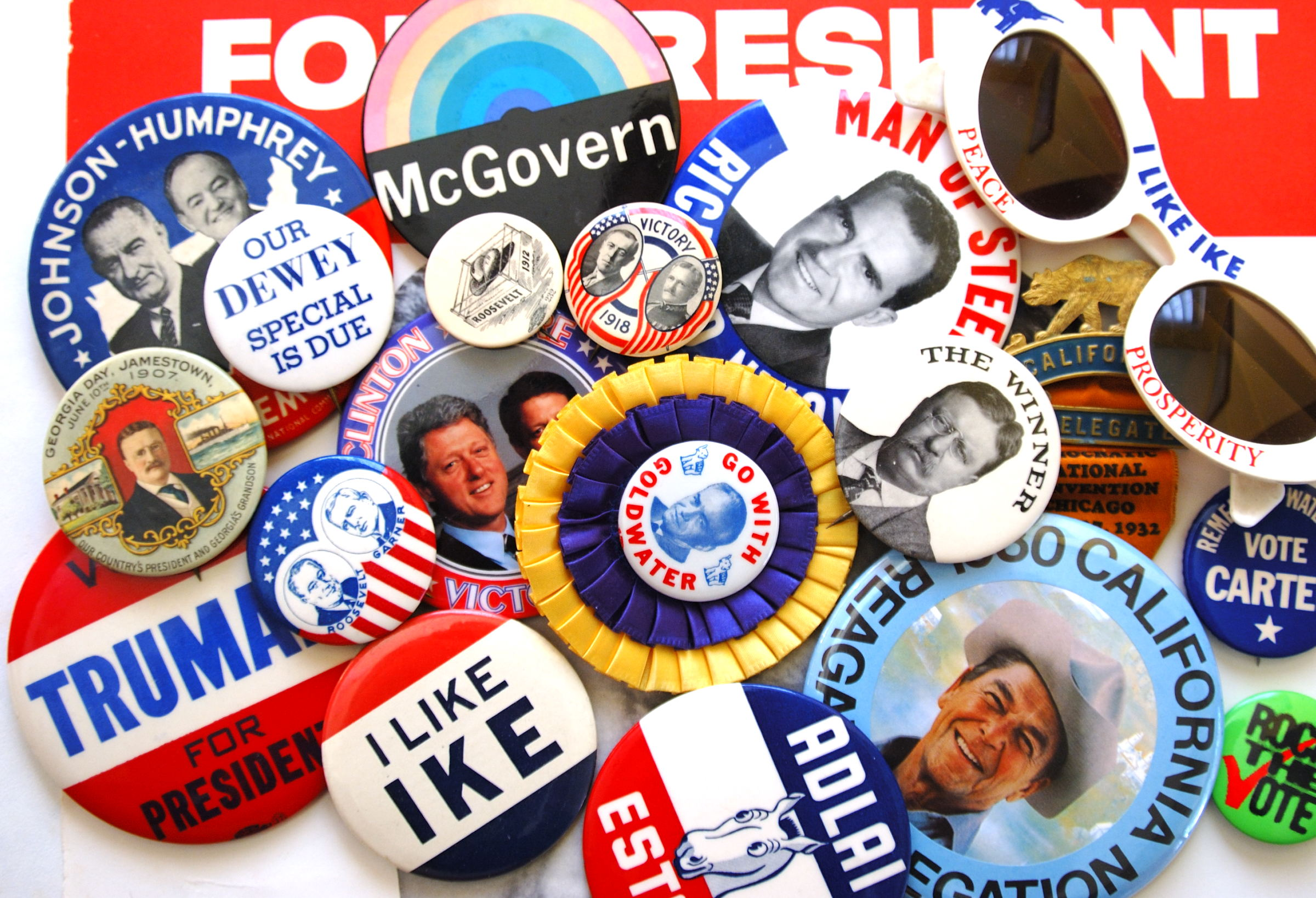 Union Made Buttons, Pins, and Badges Galore!