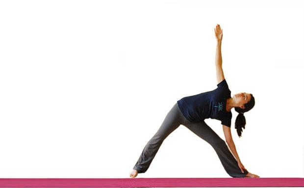 Trikonasana yoga