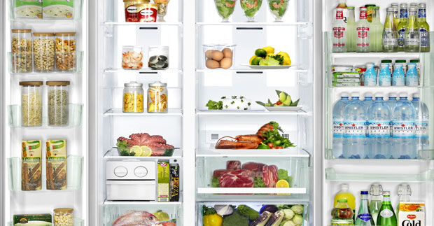 inside the fridge