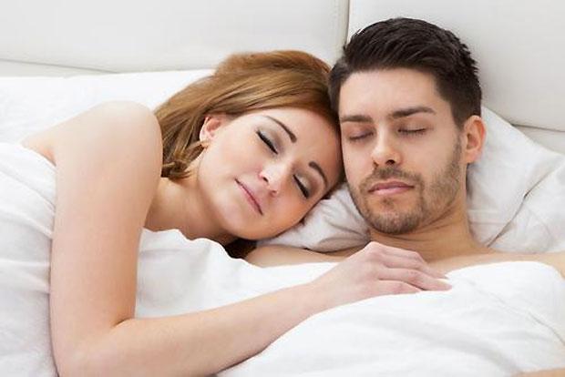 lovers sleeping