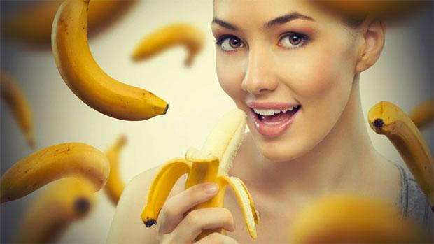woman banana