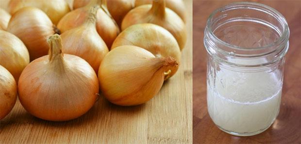making onion juice