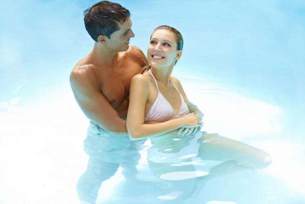 love in pool