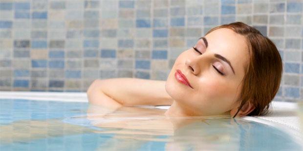 tub bathing woman