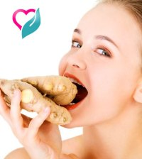 girl eating ginger
