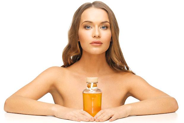 woman castor oil