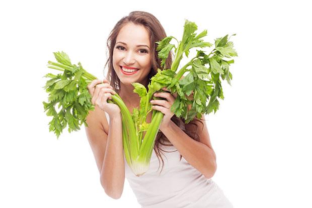 celery eating girl