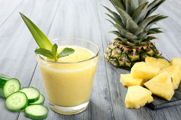 Pineapple, cucumber and aloe vera