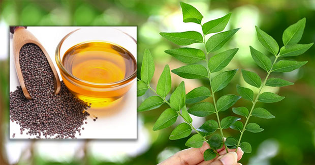 Mustard oil Curry Leaves