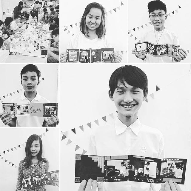 昨日の「たのしいカメラ学校 in ミャンマー」では、アートスクールに通う高校生など、総勢35名にレッスンしました。みんなでお互いを撮影して、プリントして、最後にお部屋に飾れるコラージュ作品を作成するという内容です。・・・みなさんのセンスの良さにびっくりしました!!!・・・まず、写真の撮り方。自由撮影では、お互いを演出してポーズを取らせたり、アンダーで表現したり、余白多めな構図にしたり。アイデア満載です・・・コラージュでは、アートスクールに通うみなさんだけあって、素晴らしい出来栄え。マステはミャンマーでは一部の店舗でしか販売されていないと知り心配したものの、扱いに慣れている子が多くて、いろんな形に切って、ねじって、技を駆使していました・・・写真のワークショップ初体験とは思えないです!!!・・・学校の先生からも、みんなが楽しんで作っていて素晴らしいとお声をいただき、最後は記念撮影会。先生の「ABC〜」という掛け声でみんながニッコリ笑顔に。これ、日本でもやってみよー・・・今日は大学生にレッスンします!#たのしいカメラ学校 #写真教室 #ミャンマー #フォトコラージュ