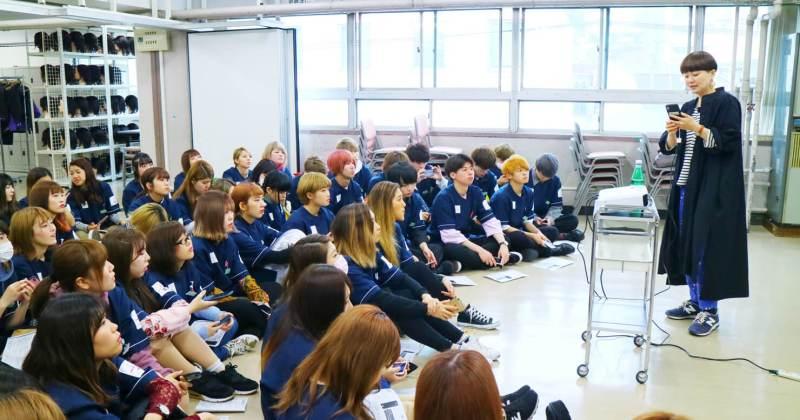5/10(木)住田美容専門学校にて撮影講座を開催しました。