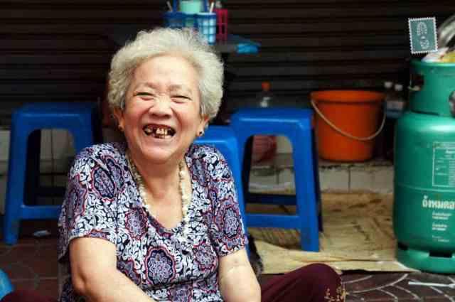 Thai lady smiling