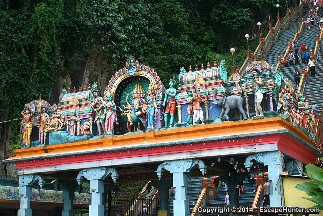 The Batu Caves Hindu Shrine