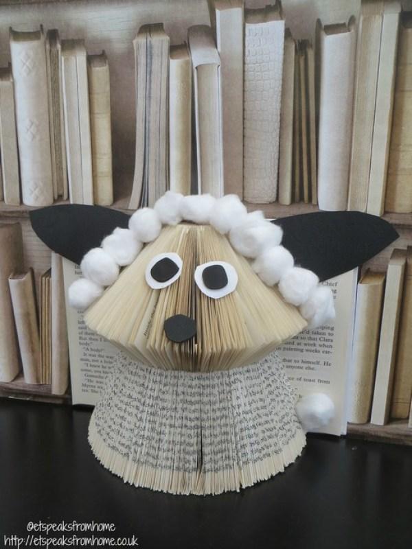 book folding sheep book art