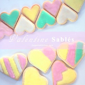Butter Cookie Sablés for your Valentine