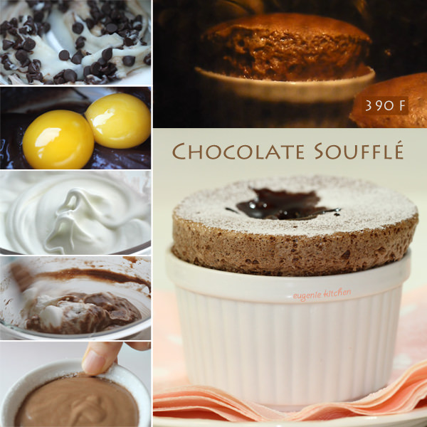 Easy Chocolate Soufflé Recipe - Eugenie Kitchen