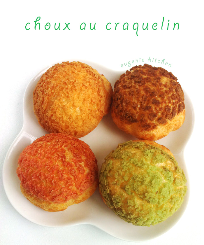Choux au Craquelin - French Crunchy Cream Puff Recipe