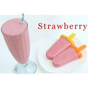 Strawberry Smoothie & Strawberry Popsicle Recipe