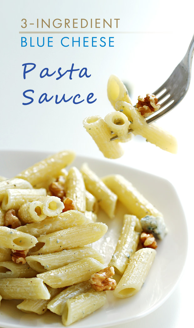 Express Pasta with 3-Ingredient Blue Cheese Pasta Sauce - Eugenie Kitchen