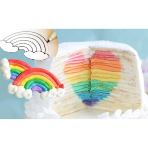 Teaser Ad: Mille Crepe Cake with a Hidden Rainbow Heart