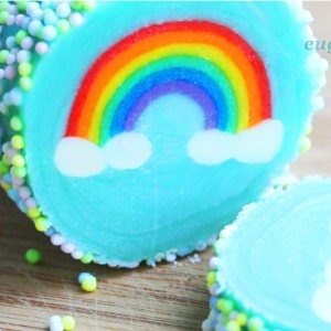 Rainbow with Clouds Cookies – Slice & Bake!