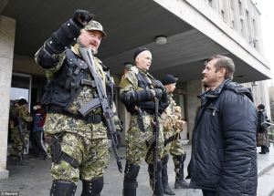Well armed Russian militants occupy government building in Eastern Ukraine