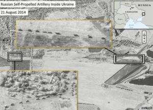 Nato released satellite images showing Russian forces numbering more than 1,000 troops operating inside Ukraine.