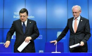 Herman Van Rompuy and Barroso