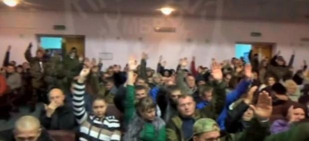 "First ""Peoples Court"" in Novorossiya: voting for death penatly"