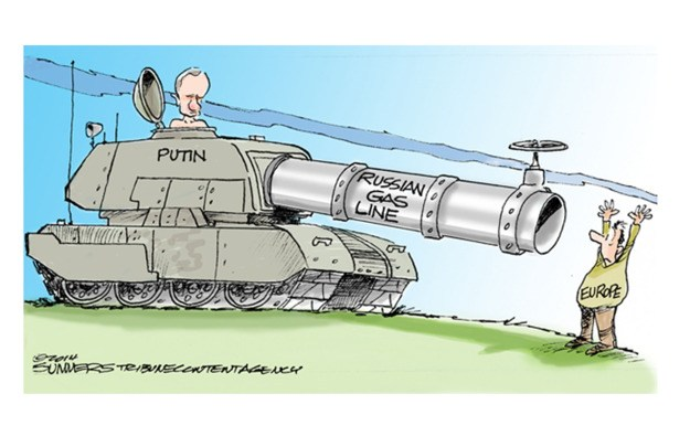 Russian gas line to Europe