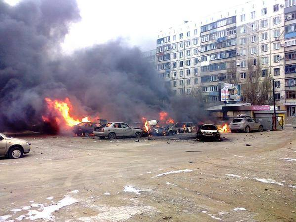 Grad attack by Russian-terrorist forces on Mariupol, 24 January 2015