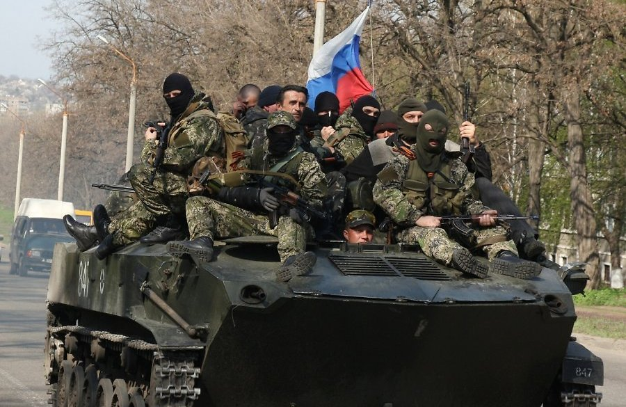 An armed personnel carrier full of mercenaries from Russia in Donbas, Ukraine (Image: inforesist.org)