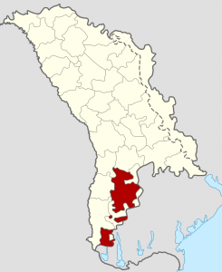 Moldova with Gagauzia in red
