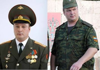 "Alexei Zavizyon (cover name ""Pilevin""), Major General of the Armed Forces of the Russian Federation (Image: tsn.ua. Note that the left image was taken while Zavizyon was still a colonel.)"